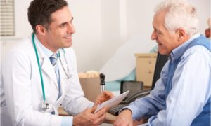 The doctor explains the different things that the patient can encounter.